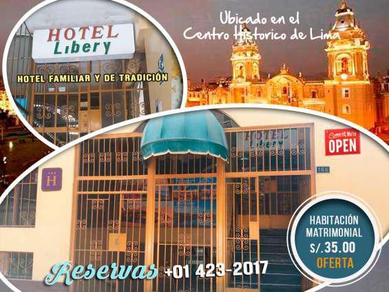 Hotel libery- hotel familiar en cercado de lima en lima