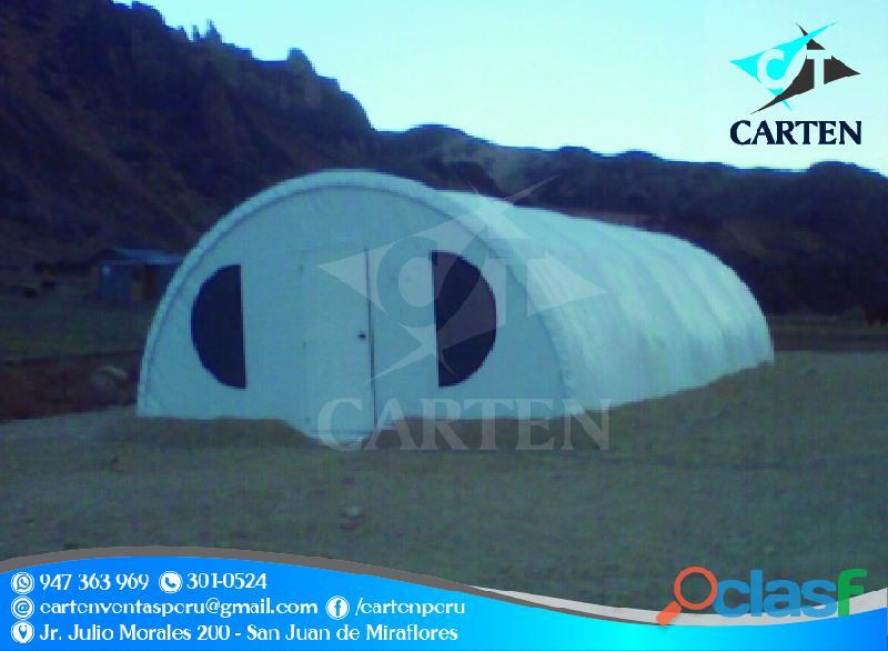 Campamentos resistentes modelos mineros igluu carten perú