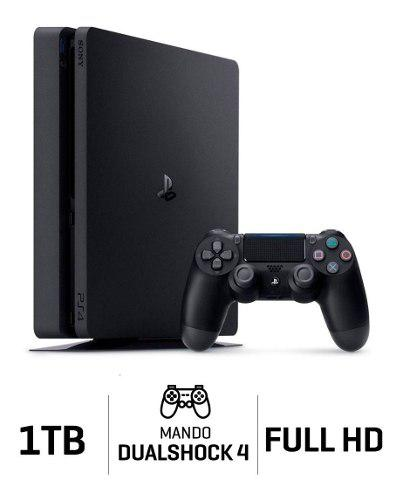 Consola ps4 slim 1tb play station 4 negro !!