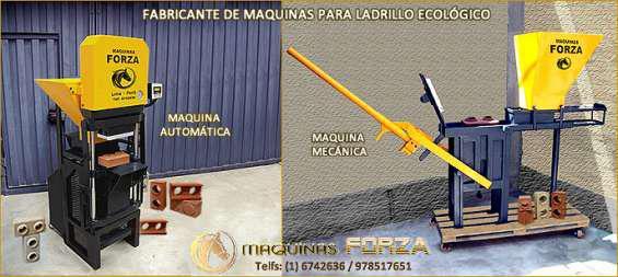 Máquinas manuales y automáticas para ladrillo ecológico