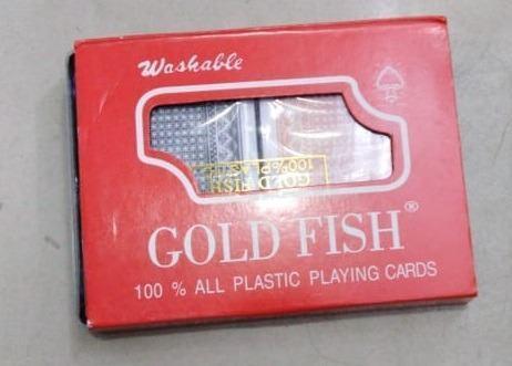 Cartas naipes barajas gold fish a s/. 15