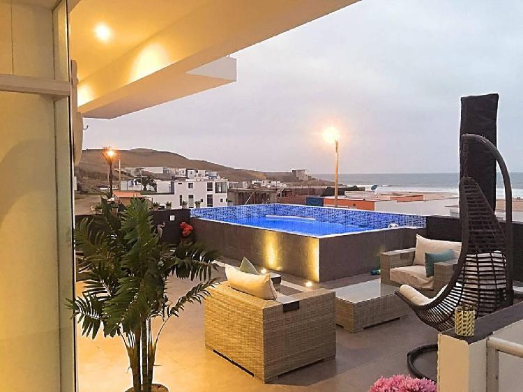 Condominio playa las palmeras excelente vista al mar –