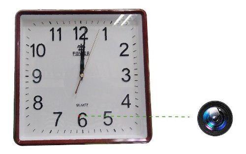 Reloj de pared con camara oculta espia wifi hd 1080p