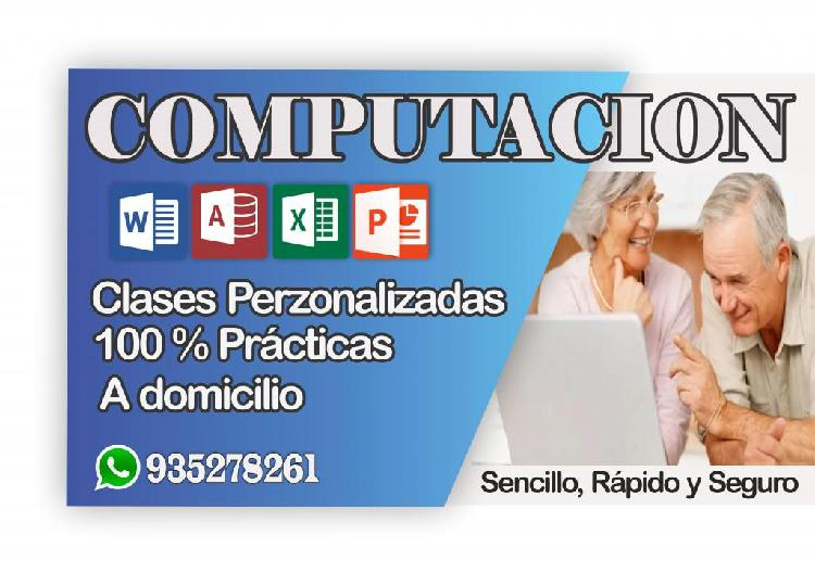 CLASES DE COMPUTACIÓN - MÉTODO PRACTICO- TODAS LAS EDADES