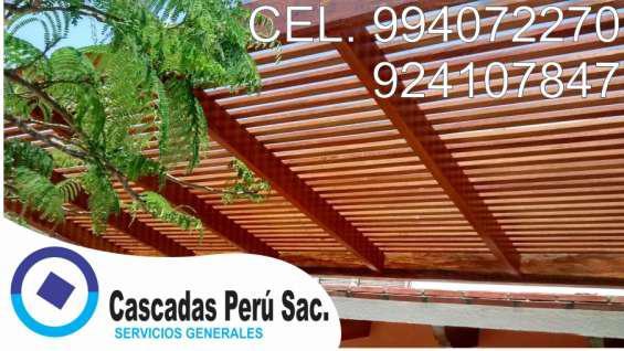 Techos sol y sombra de madera, techos sol y sombra, techos