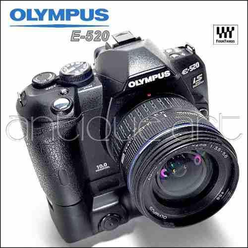 A64 Olympus E-520 Lente 14-42mm Battery Grip Accesorios E520