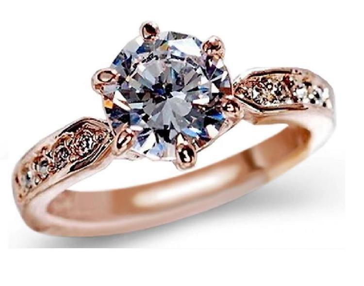 Anillo de amor oro 18k con diamantes de Austria Pareja