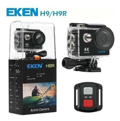Camara deportiva eken h9r 4k wifi control remoto y accesorio
