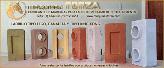 Máquinas para fabricar ladrillos ecologicos en San Ignacio