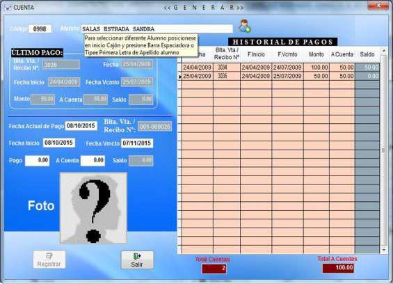 Sistema software para administracion de gimnasios en Lima