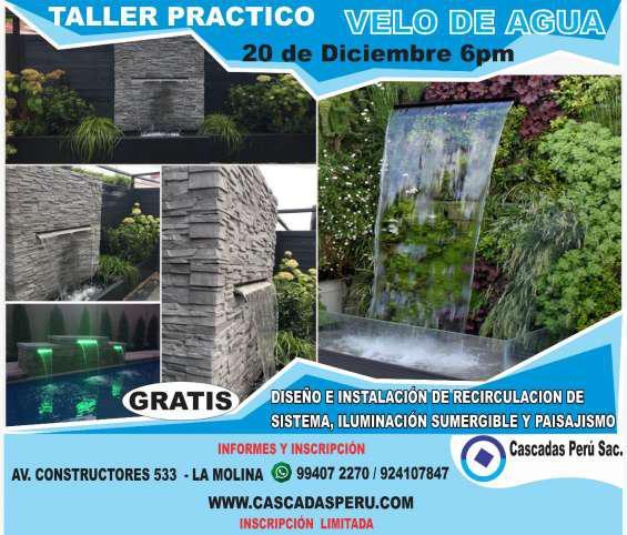 Taller practico de instalación de velo de agua en Lima