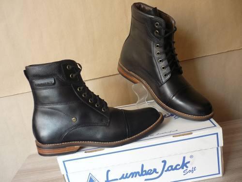 Zapato lumber jack cuero talla 39 original zlj103901