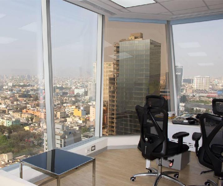 25% dscto alquiler d oficina panoramica amoblada, servicios