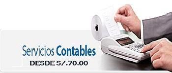 Desde s/70.00 cel.945374628 estudio contable, servicios