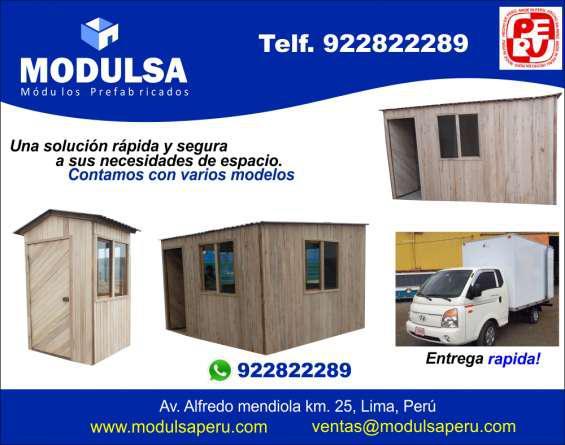 Espacios habientes prefabricados de madera para obras en