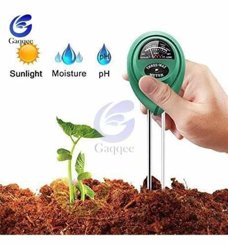 Medidor suelo 3 en 1 sensor luz ph humedad terreno agro