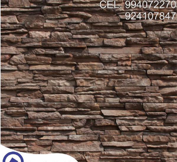 Fachaleta de piedra negra, tipo de piedra para fachada,