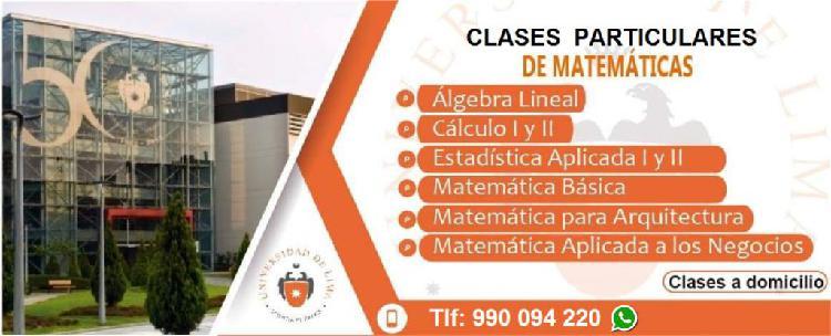 Clases de matematica exclusivo para la universidad de lima