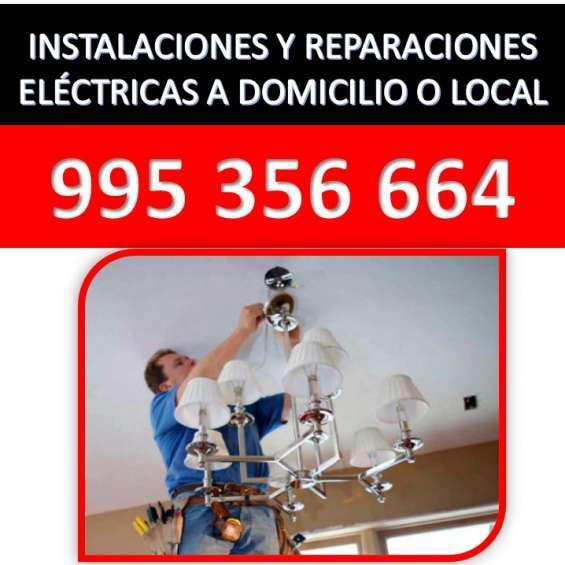 Instalaciones y reparaciones electricas a domicilio en lima