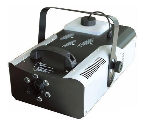 Maquina de humo con 6 luces sicodelicas led de 900w