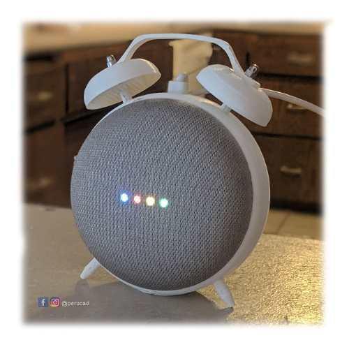 Soporte google home mini estilo reloj alarma retro