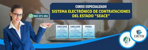 Curso especializado sistema electrónico de contrataciones