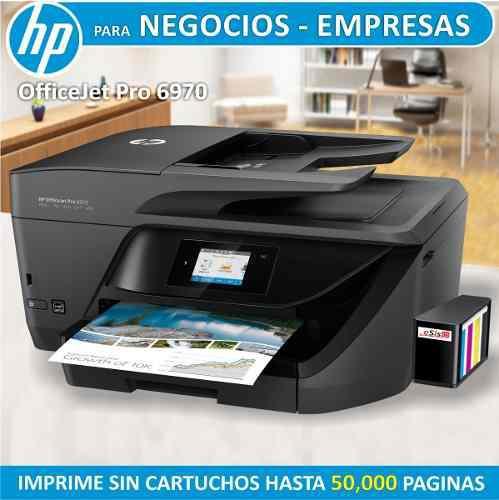 Impresora hp officejet pro 6970 con sistema continuo pro