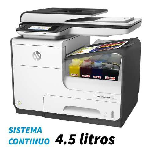 Impresora multifucional hp 477dw con sistema continuo 4.5lt