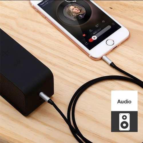 Cable de audio jack 3.5mm a 3.5mm serie yiven de 1 metro