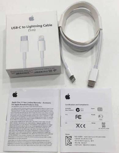 Cable tipo c a ligthning apple