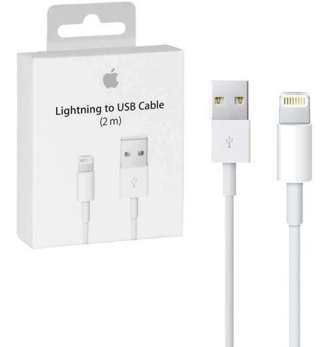 Cable usb lightning 2 metros iphone 5 6 7 8 x original