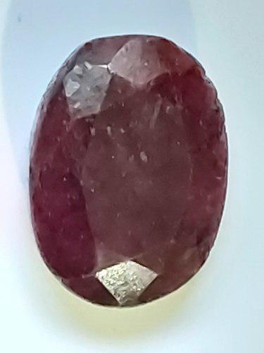 Piedra rubí rojo opaco africa sangre natural 18 ct. n 14a