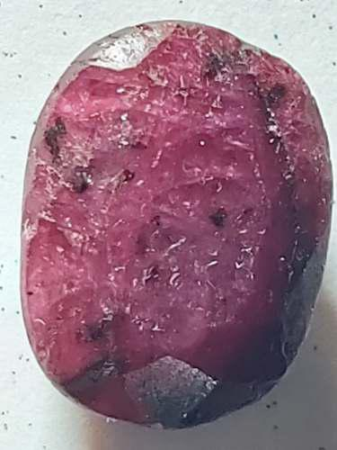 Piedra rubí rojo opaco africano sangre natural 18ct. n 18a