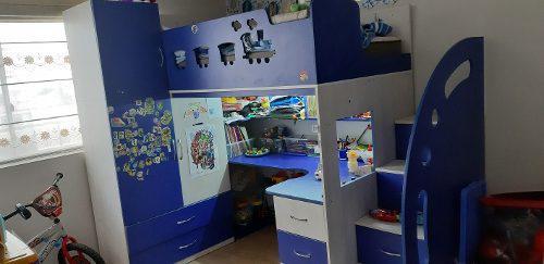 Dormitorio escritorio ropero multifuncional niño