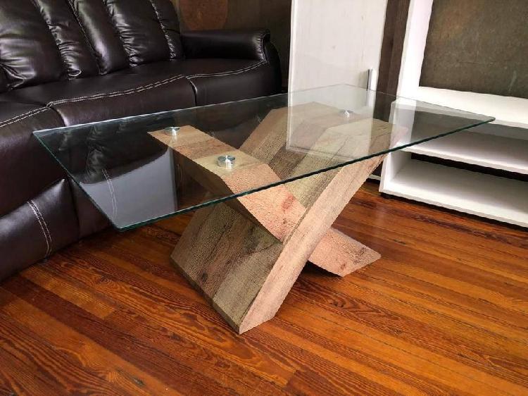 Mesa de centro - (rustica, rustico) importado nuevo.