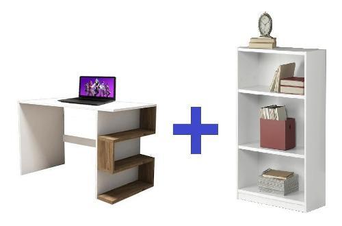 Moderno mueble escritorio estante en melamina