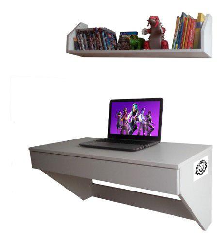 Moderno mueble escritorio repisa flotante de melamina