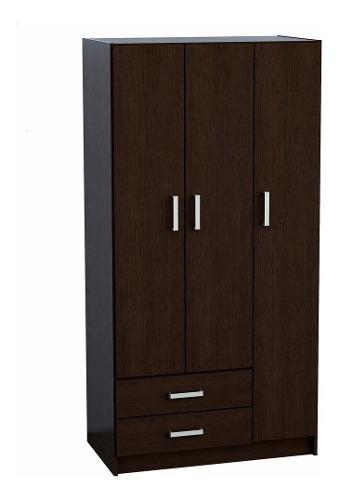 Moderno mueble ropero 3 puertas en melamina