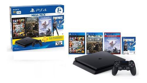 Ps4 play station 4 mega pack 1 tb + 3 juegos + membresía !!