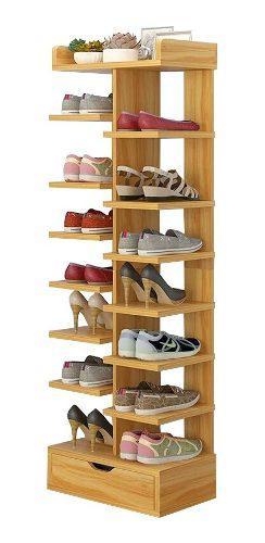 Zapatera moderna, organizador de melamina, mueble p/ zapatos