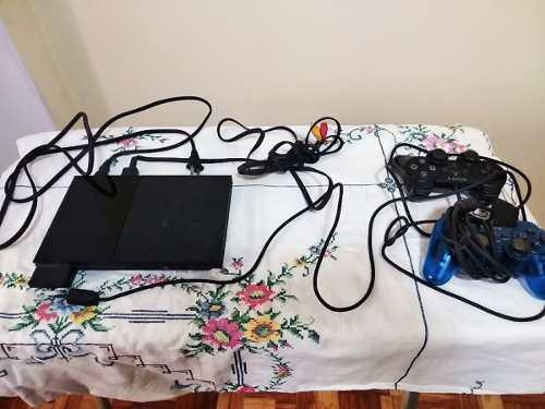 Playstation 2 slim (2 mandos) + televisor