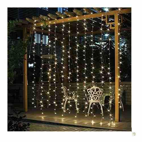Luces led cortina 3x3 mts 10 tiras navideño x mayor y menor