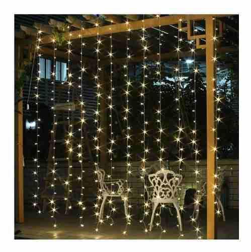 Luces led cortina 3x3 mts 15 tiras navideño x mayor y menor