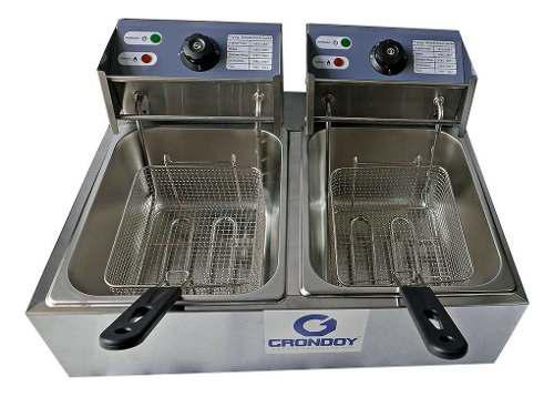 Freidora eléctrica industrial para negocios + garantía 1