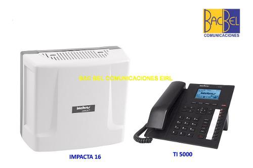 Intelbras - central impacta 16 + telefono ti 5000 - nuevo
