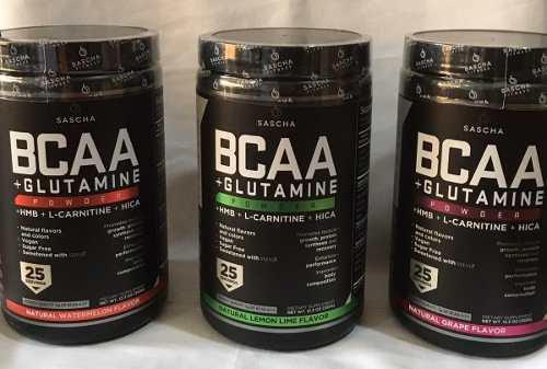 Sascha Fitness Bcaa 4:1:1 + Glutamine - 100% Sellado