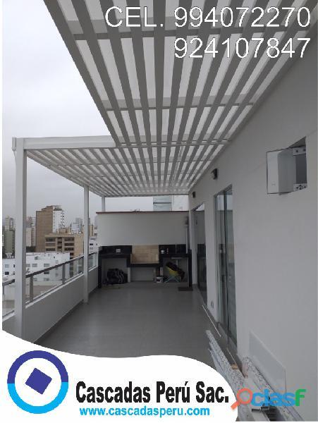 Techos para patios, techos para azoteas, techos sol y sombra economicos,