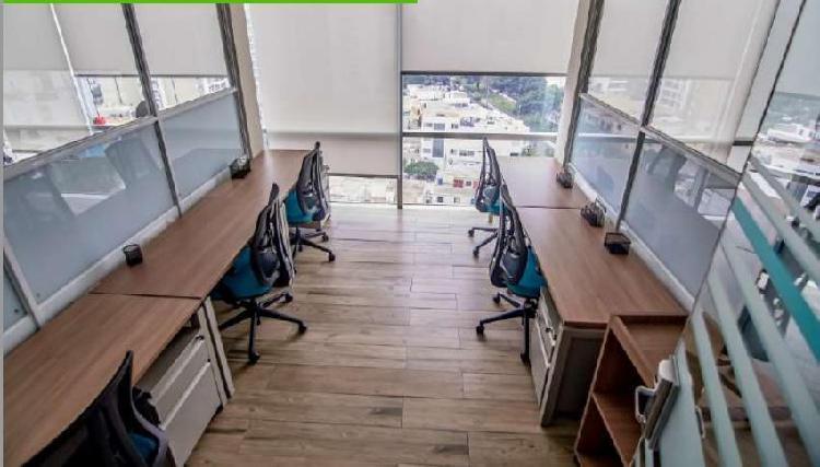 Coworking oficina privada con vista panoramica