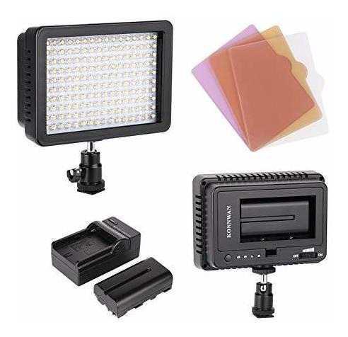 Konnwan 160 luz led de video para camara reflex videocamara