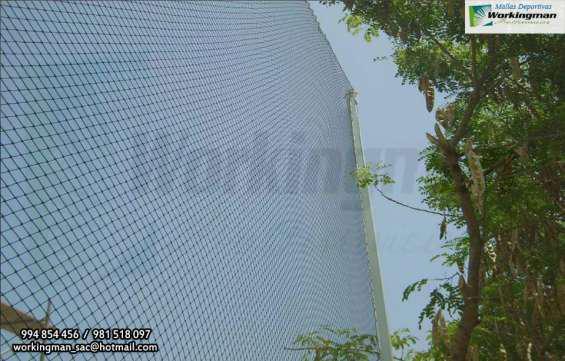 Malla para campos deportivo cercado y techado en Lima